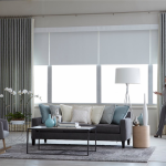 grey living room draperies - Southern California Window Coverings