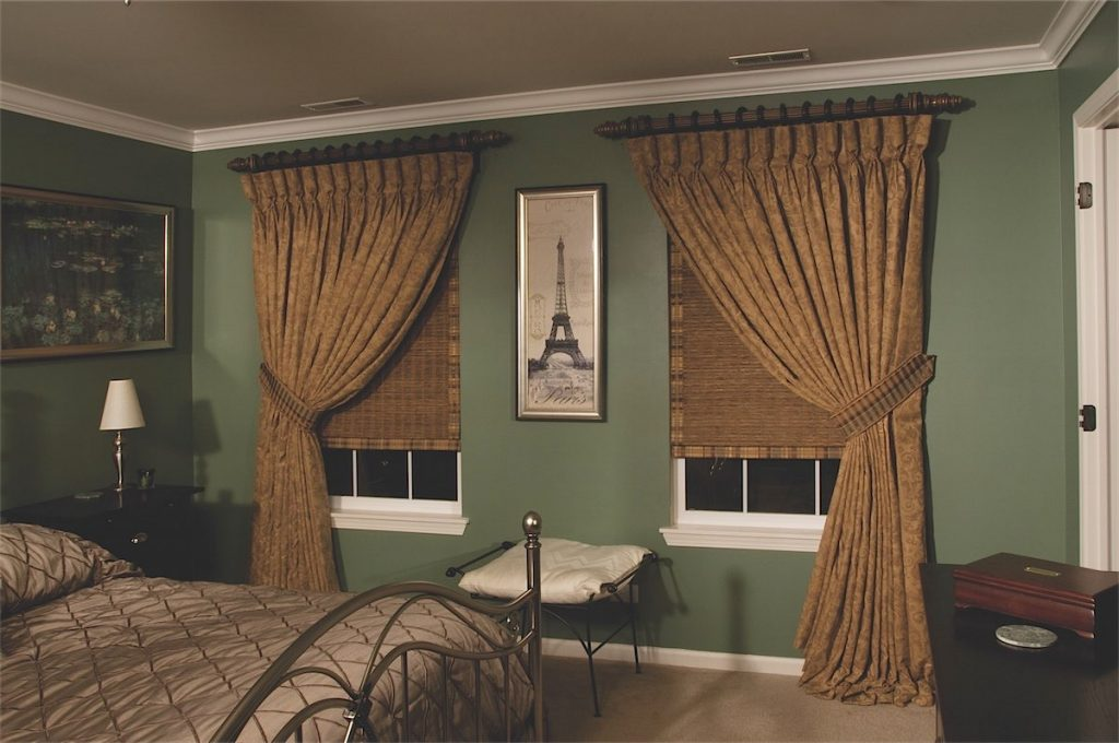 Brown Draperies In Bedroom - Temecula Custom Draperies