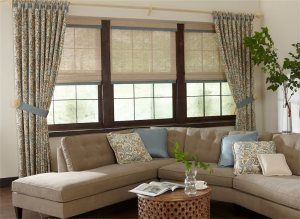 living room draperies and shades - Southern California Window Coverings
