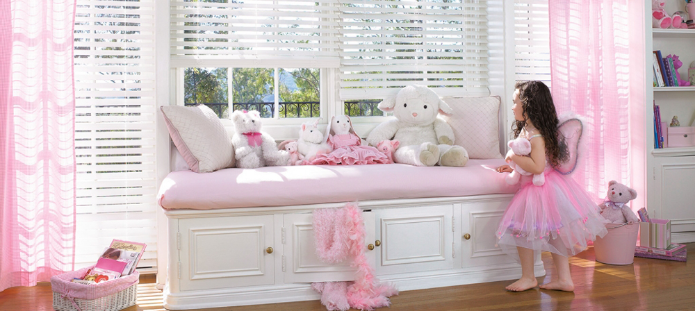 White Blinds In Child's Room - Southern California Window Coverings