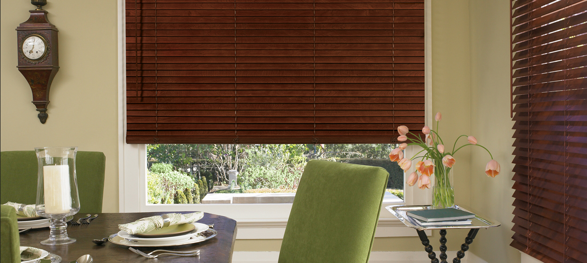 Brown Blinds In Kitchen - San Diego Blinds