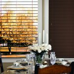 Brown Blinds In Dining Room - San Diego Blinds