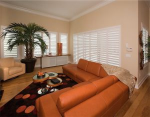 Shutters In Living Room - San Diego Shutters